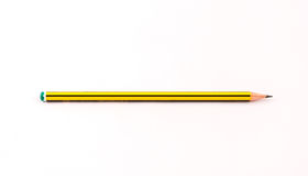 Pencil. A wooden pencil isolated on a white background Stock Photo