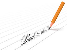 Pencil and words Stock Images