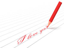 Pencil and words Royalty Free Stock Photo