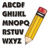 Pencil write abc Royalty Free Stock Photos