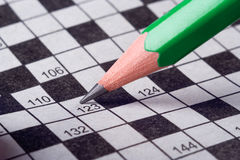 Pencil write crossword Stock Photo