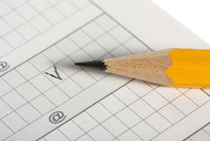 Pencil writes checking Stock Photos