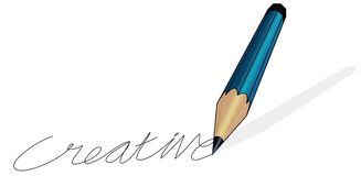 Pencil writing creative Stock Image