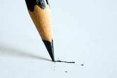 Pencil writing on paper Stock Photography