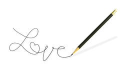 Pencil writing the word Stock Image