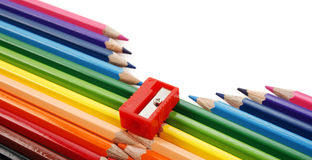 Pencil zipper Royalty Free Stock Photography