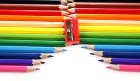 Pencil zipper Royalty Free Stock Image