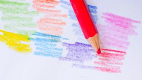 Pencilcolor auf Hintergrund Lizenzfreies Stockfoto
