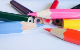 Pencil color on background Stock Photo