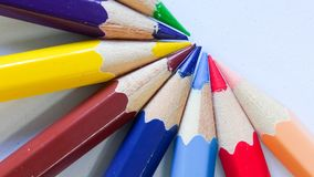 Pencil color on background Royalty Free Stock Images