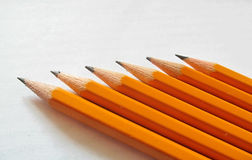 Penciling. Six simple pencils of different hardness Stock Photography