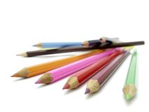 Pencils 05. Coloured pencils royalty free stock image