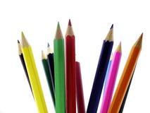 Pencils 09. Coloured pencils Royalty Free Stock Image