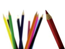Pencils 10. Coloured pencils royalty free stock photos