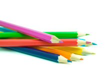 Pencils. Some colour pencils isolated on a white background Stock Image