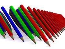 pencils 库存例证
