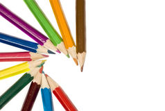 Pencils. Coloured pencils isolated on white Royalty Free Stock Photos