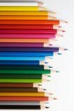 Pencils. Color pencils on white, different color Stock Photos