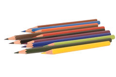 Pencils. Colored pensils isolated with clipping path Royalty Free Stock Photography