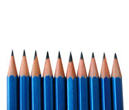 Pencils. Isolated image of several pencils Royalty Free Stock Photography