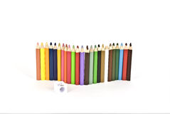 Pencils. Colored pencils for art and drawing Royalty Free Stock Images