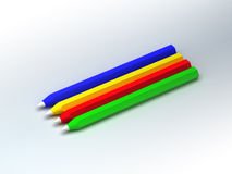 Pencils. 3d rendered colored pencils over a white background Royalty Free Stock Images
