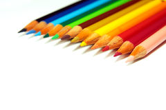 Pencils. Set of crayons on a white background stock image