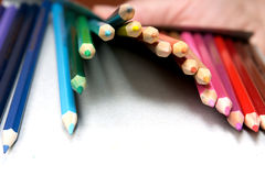 Pencils. Set of crayons on a white background Stock Photo