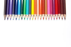 Pencils. Set of crayons on a white background stock photos