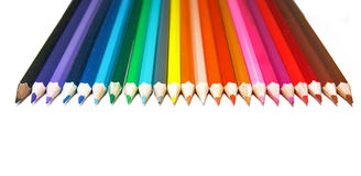 Pencils. Set of crayons on a white background Royalty Free Stock Photography