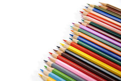 Pencils. Set of pencils on a white background royalty free stock photography