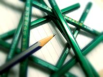 Pencils. A lot of Royalty Free Stock Photography