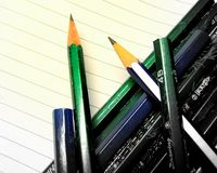Pencils. A lot of Royalty Free Stock Photo