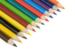 Pencils. Color pencils, isolated on white, clipping path included Royalty Free Stock Photos