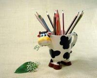 Pencils. Color pencils in a cup Stock Image