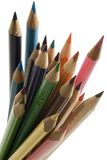 PENCILS. Colored pencils against white background Royalty Free Stock Image