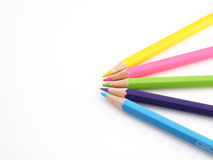 Pencils. The pencils of different bright colors for arts Royalty Free Stock Photo