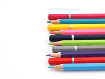 Pencils. The pencils of different bright colors for arts Stock Image