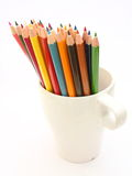 Pencils. Some color pencils in a glass Royalty Free Stock Photos