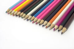 Pencils. Colour pencils from a tree are isolated on white Stock Photography