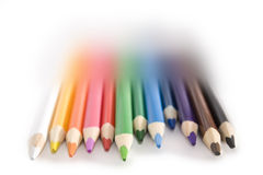 Pencils. Set of pencils on a white background royalty free stock images