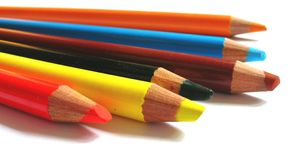 Pencils 2. Close-up of colour pencils Royalty Free Stock Photo