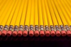 Pencils. Row of pencils Stock Image