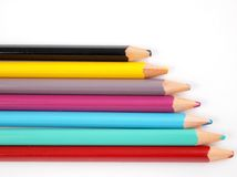 Pencils. On a white background Royalty Free Stock Photos