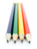 Pencils. On white Stock Photography