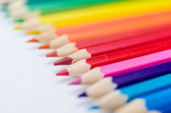 Pencils. Colour pencils on white background close up stock image