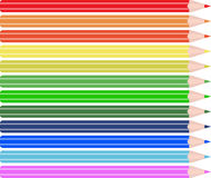 Pencils. Set of colored pencils. Vector illustration Stock Images