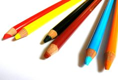 Pencils 3. Close-up of colour pencils Royalty Free Stock Images
