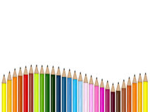 Pencils. An illustration of colored pencils Stock Images