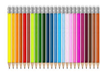 Pencils. An illustration of colored pencils stock illustration